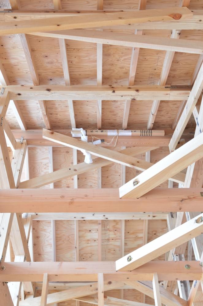 木の家 小屋組み
