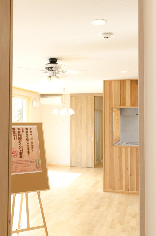 毛呂山町 木の家 完成見学会 1Fフローリング
