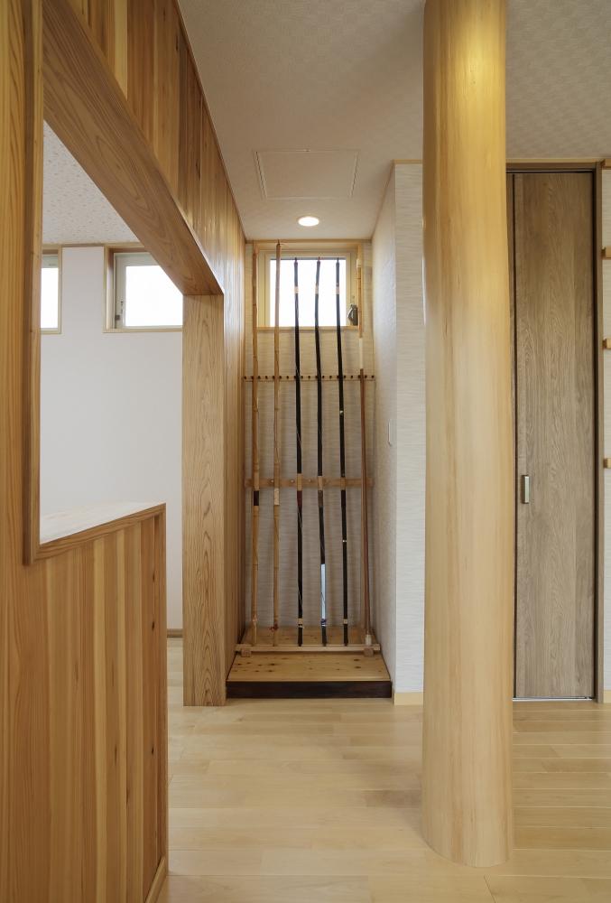 注文住宅 共和木材 毛呂山町 大黒柱と弓