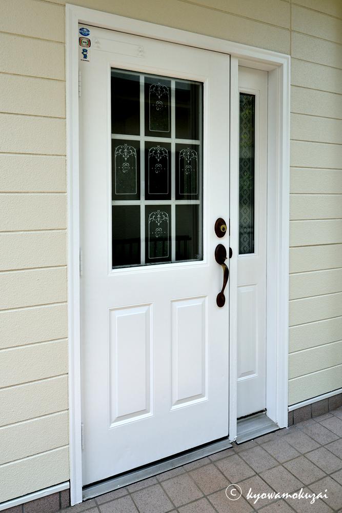 木製玄関ドア塗替