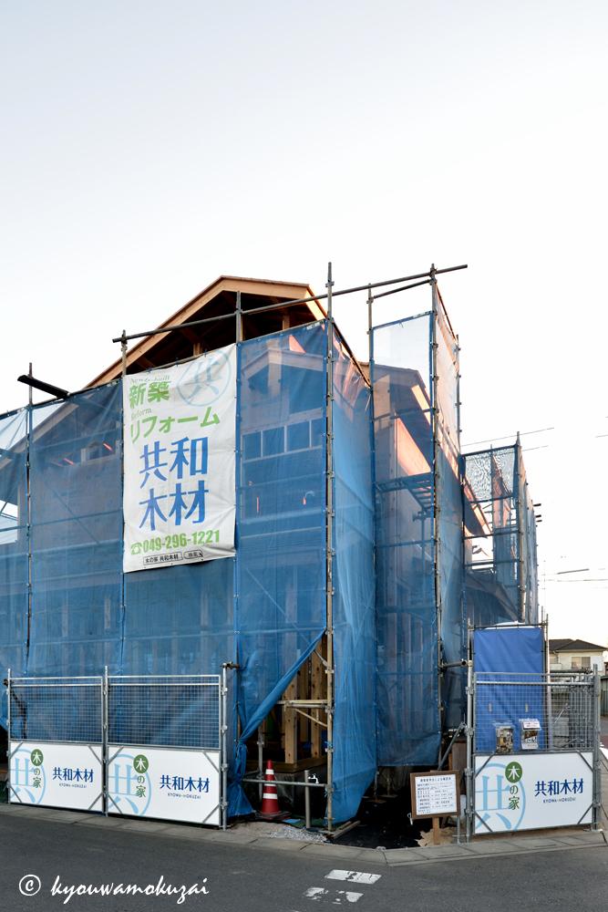 鶴ヶ島 新築現場