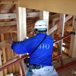 鶴ヶ島の注文住宅新築現場の躯体の検査が終了しました。