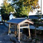 井戸小屋の建替工事をしました。