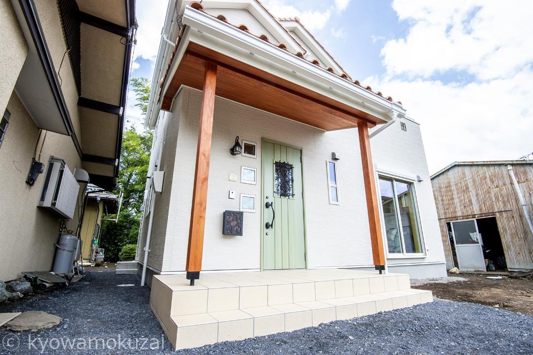 東松山市 注文住宅 外観玄関